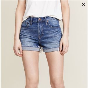 Madewell NWOT high rise fold up jean shorts  30